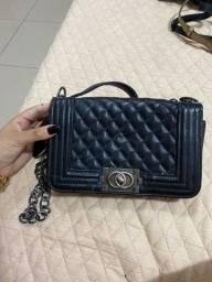 Bolsa de couro inspiração Chanel