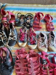9 pares calçados menina tamanho 29