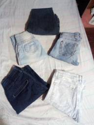 5 calças jeans por 100 Reais
