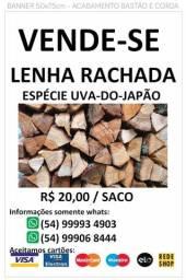 Título do anúncio: Vende-se lenha rachada / lenha em talha / lenha picada / lenha uva-do-Japão