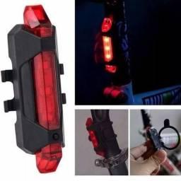 Lanterna alerta traseira bike recarregável;) entrega gratuita