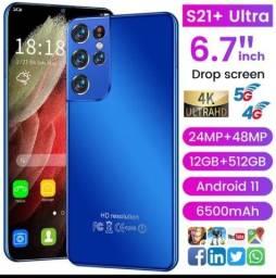 """Versão global s21 + ultra smartphone 6.7 """"Câmera HD"""