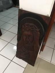 RELÍQUIA JESUS *madeira talhada a mão*