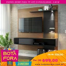 BOTA FORA JANEIRO / Painel Home para TV até 55 Pol 3 Prateleiras 2 Nichos