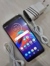 Motorola Moto E6 Play de 32 Gb Com Biometria na Cor Azul Bem Novinho....