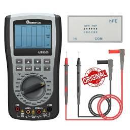 Multímetro Osciloscópio MT8205 mede HFE e testa Controle Remotos