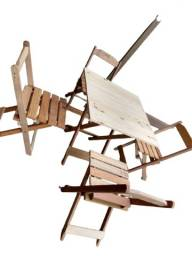Jogos De Mesa Madeira Dobrável 70x70 Com 4 Cadeiras - Bar / Restaurantes / Lanchonetes