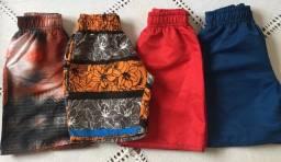 Bermudas Infantis tactel tamanhos 1, 6 e 8
