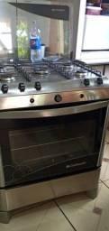 Fogão 5 bocas inox Top o fogão forno zero nunca usado