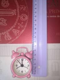 Mini relógio rosa (6cm) aceito trocas