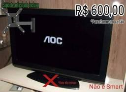 """TV AOC 32"""" LCD + SUPORTE ARTICULADO"""