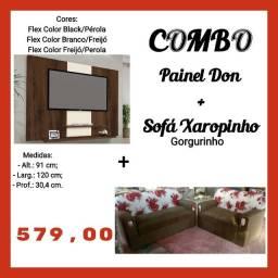 "Combo painel Don 42"" + sofá xaropinho"