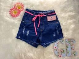 Short jeans cintura alta (Novo), TAM 38, Apenas 38 reais