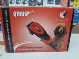 Maquina De Tosa Cães E Gatos Kit Aparador Completo Qirui