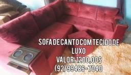 SOFA DE CANTO DE LUXO ## DIRETO DE FABRICa
