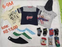 Roupas e calçados de menino