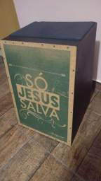 Cajon jaguar eletroacustico - so Jesus salva + capa