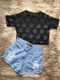 Shorts, tshirts e cropped a partir de 20 reias