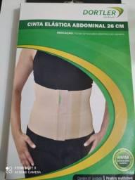 Cinta Modeladora Elástica Abdominal 26cm Ajustável- Fechamento Em Vecro