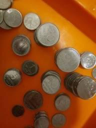 Moedas antigas cruzeiro e centavos