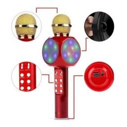 Microfone LED Bluetooth Kapbom KA-1000