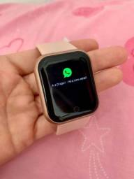 D20 Rosa Relógio Smart Funções Celular Esportivas