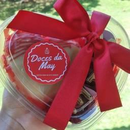 Caixa coração para o Dia das Mães