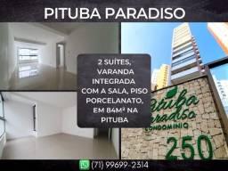 Pituba Paradiso, 2 suítes em 84m² com 2 vagas degaragem na Pituba