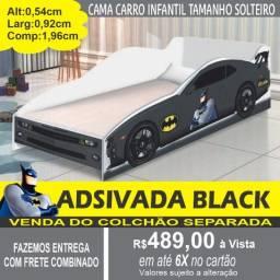 Cama Carro Black Tamanho Solteiro 100%MDF