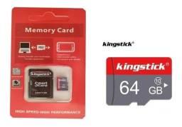 Cartão de Memória 64gb, novos, otiginais, classe 10