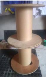 Carretel/bobina  de madeira compensado para artesanato (leia a descrição)