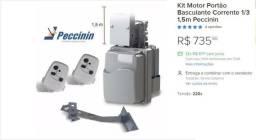 Kit Motor Portão Basculante Corrente 1/3 1,5m Peccinin