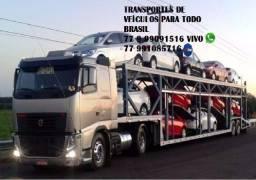 Transporte veiculos caminhao cegonha para todo Brasil com seguro total