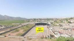 Área com 14 mil metros com benfeitorias como galpão de aproximadamente 3.400 metros