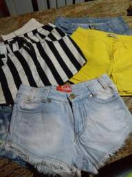 Shorts jeans curto n34 de marca