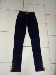 Calça Jeans n° 36 cintura alta nova