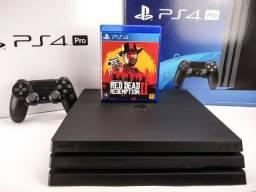 Ps4 Pro + Red Dead Redemption 2 + Garantia (Aceito outros consoles e parcelo)