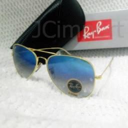 c0be95793 Óculos de sol RB Aviador Azul degrade 3026 Lentes com proteção UV400