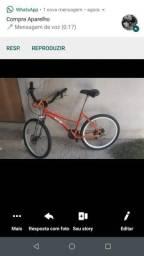 Bicicleta de alumínio com freio a disco
