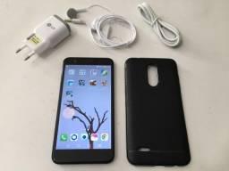"LG K11+ Plus Preto 32GB, Resistente à Impactos, Dual Chip, Tela de 5.3"" HD, 4G, Android 7"
