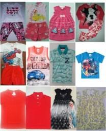 Conjuntos Infantis em microfibra, moletom, malha e Leg.: vestidos, camisas regata