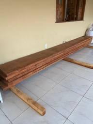 5 Peças de madeira - Jatobá - 5 M x 30cm x 5cm