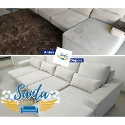 *Santa Limpeza* higienização de sofás poltronas cortinas
