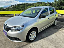 Sandero Authentique 1.0 completo IPVA 2021 pago!