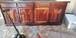 Móvel balcão aparador, madeira de qualidade 4 portas e 4 gavetas