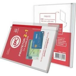 Protetor em Acrílico 2 em 1 Para CNH e Cartão Super Resistente