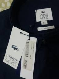 Camisa Lisa Lacoste nova