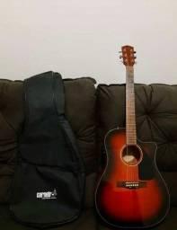 Violão Fender com CAPA e CASE modelo: CD60CE