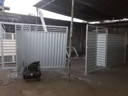 Portoes galvanizados apartir de 240,00 o metro quadrado