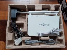 Roteador Wireless NOVO 300 Mbps marca Link One L1-RWH333